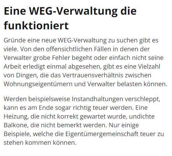 Hausverwaltung, WEG Verwaltung